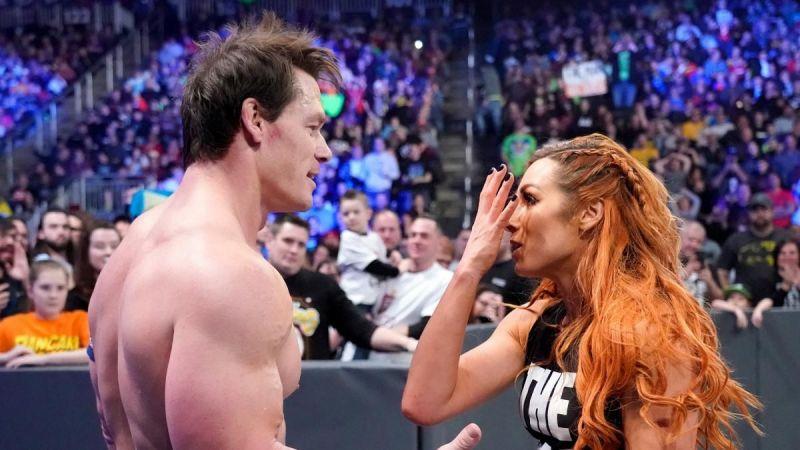 John Cena and Becky Lynch