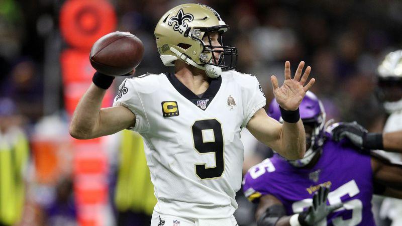 New Orleans Saints quarterback Drew Brees