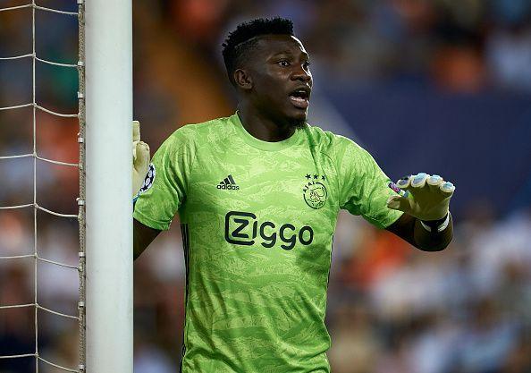 Andre Onana impressed for Ajax against Chelsea earlier in the season
