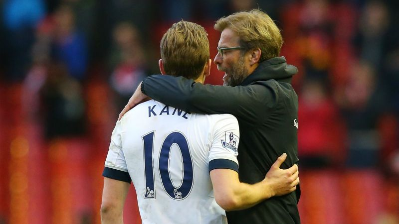 Harry Kane and Jurgen Klopp - cropped