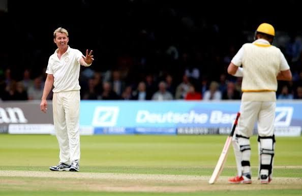 Brett Lee did not just break the stumps, but some hands too!