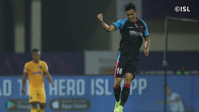 Vinit scored the second goal for Odisha FC