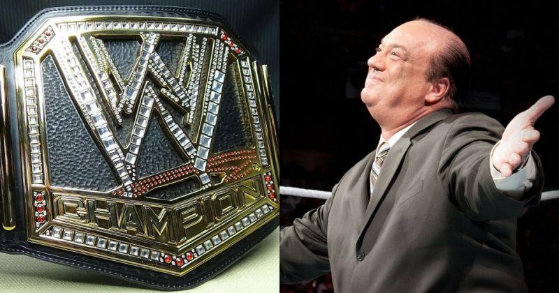 WWE Title/ Paul Heyman.