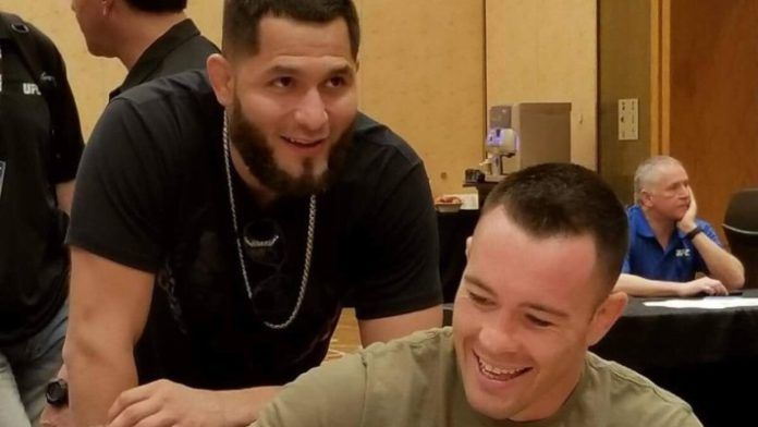 Jorge Masvidal with Colby Covington (right) (Image Courtesy: MMA News)