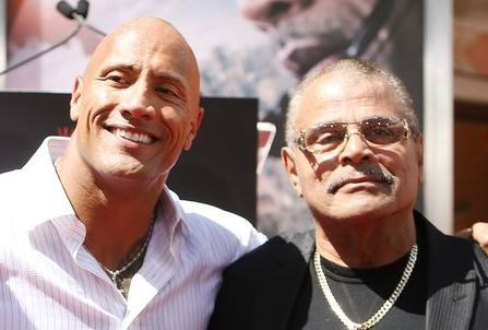 "Dwayne ""The Rock"" Johnson and his father, the late Rocky Johnson"