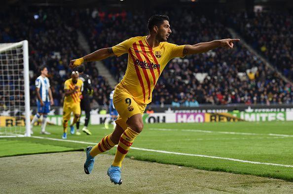 Suarez scored for FC Barcelona in Derbi barceloní