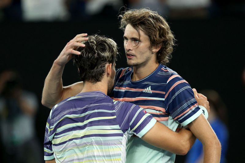 Zverev had his moments but was no match for the Austrian on the day
