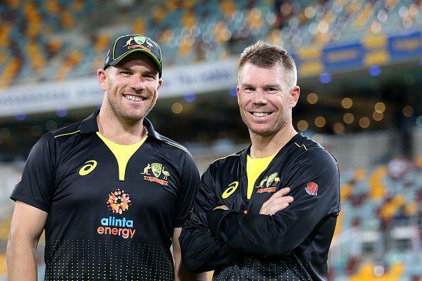 Aaron Finch and David Warner