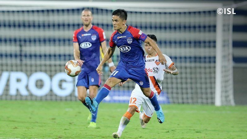 Sunil Chhetri is just one goal behind Roy Krishna in the race for the Golden Boot