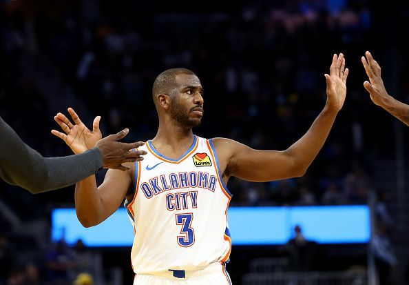Chris Paul is on another new team, the Oklahoma City Thunder