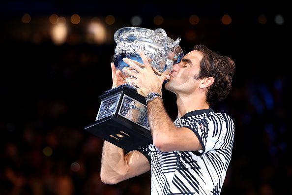 Roger Federer at the 2017 Australian Open