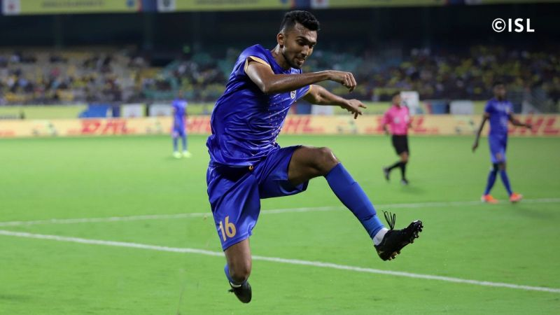 Sarthak credited his teammates for helping him recover from the red card against Hyderabad FC