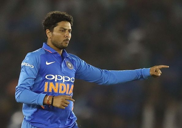 Kuldeep Yadav became the fastest Indian spinner to reach 100 ODI wickets