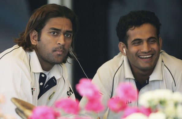 MS Dhoni (left) and Irfan Pathan (right)