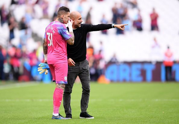 Guardiola would not let Ederson take a penalty out of respect for the opponent