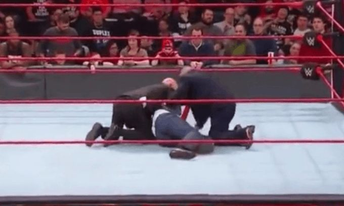 Rick was tackled by security last night on RAW