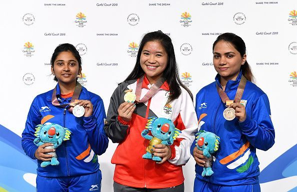 Indian shooting stars: Mehuli Ghosh and Apurvi Chandela