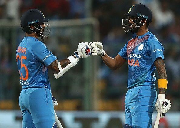 Virat Kohli hinted that both KL Rahul and Shikhar Dhawan can play the 1st ODI against Australia.