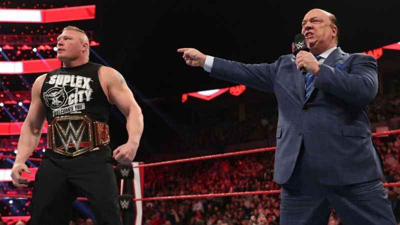 Brock Lesnar and Paul Heyman on tonight