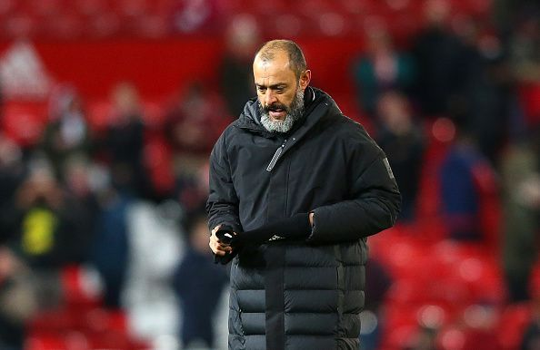 Nuno Espirito has lost to Manchester United after five matches