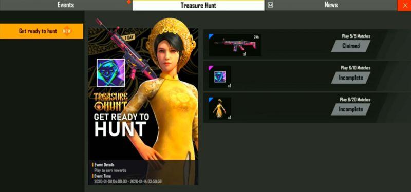 Treasure Hunt screen