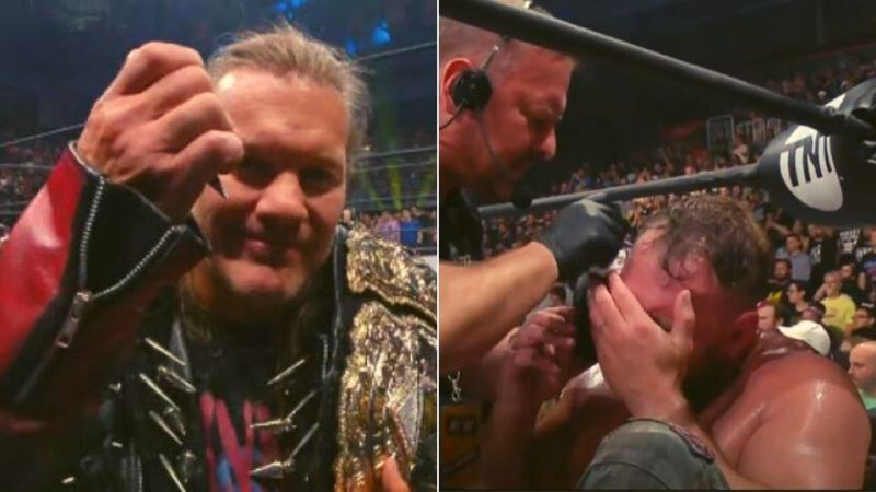 Chris Jericho took out his frustrations with Jon Moxley
