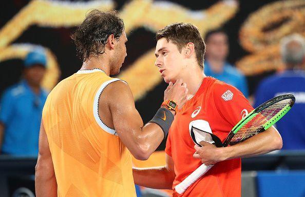 2019 Australian Open - Nadal (L) and Alex De Minaur