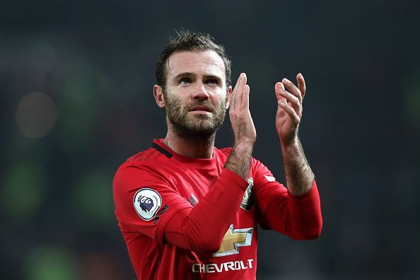 Juan Mata started for just the sixth time this season