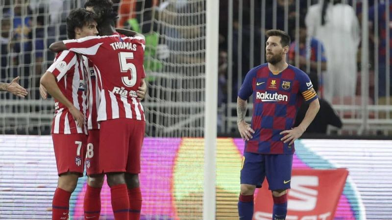 Barcelona lost to Atletico Madrid 2-3 in the Spanish Super cup semi-final