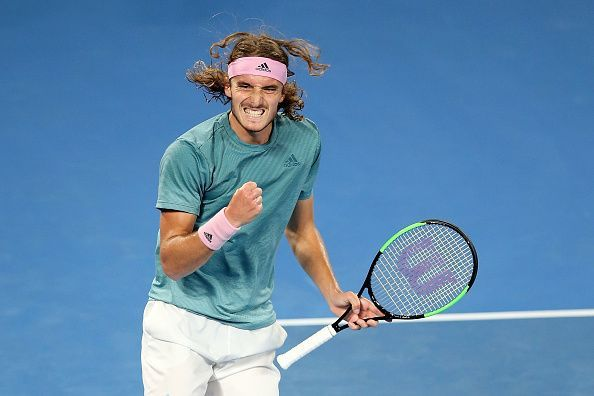 Stefanos Tsitsipas after beating Federer at the 2019 Australian Open