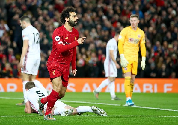 Mohamed Salah got Liverpool up and running after scoring the opener