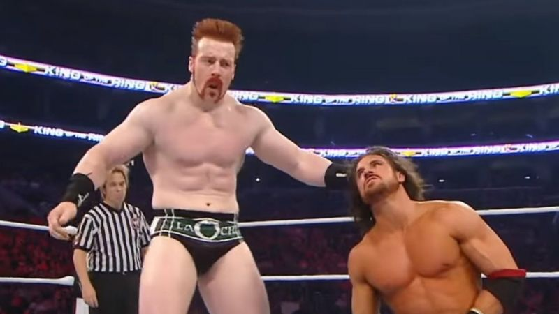 A shot from Sheamus and Morrison