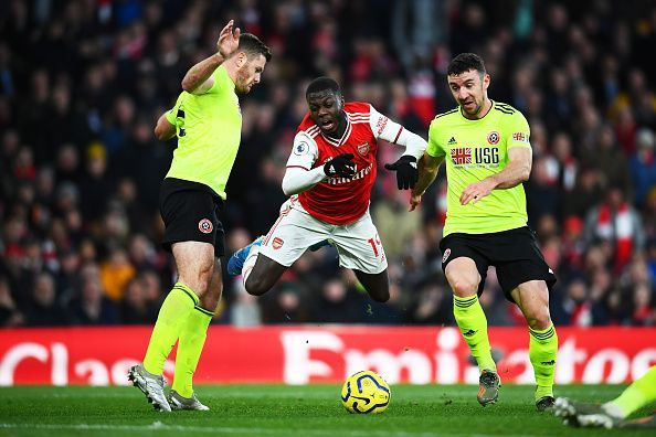 No penalty for Arsenal after Nicolas Pepe fell to the ground