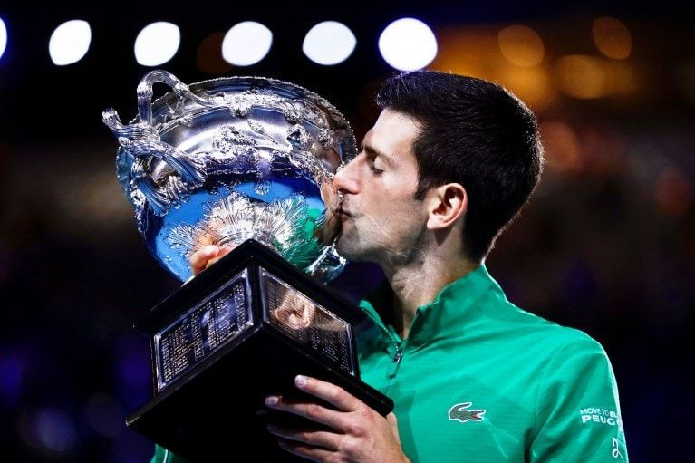Novak Djokovic was the star performer in the first month of the 2020 tennis season.