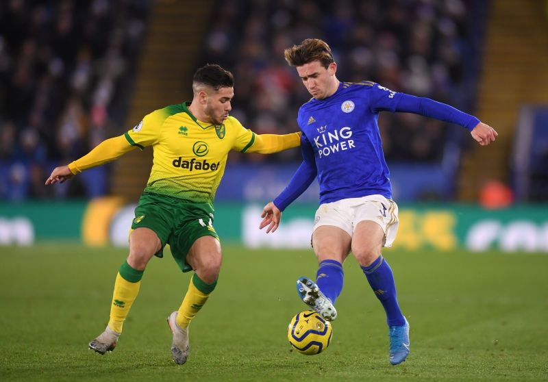 Norwich City take on Leicester City in the Premier League