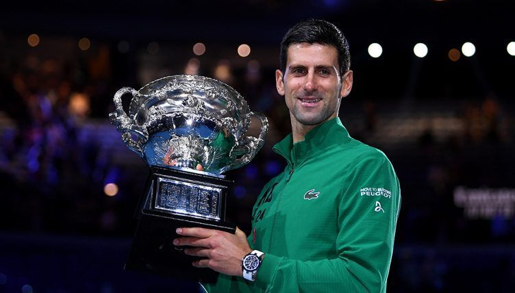 Djokovic hoists aloft a record-extending 8th Australian Open title to open the 2020 Grand Slam season