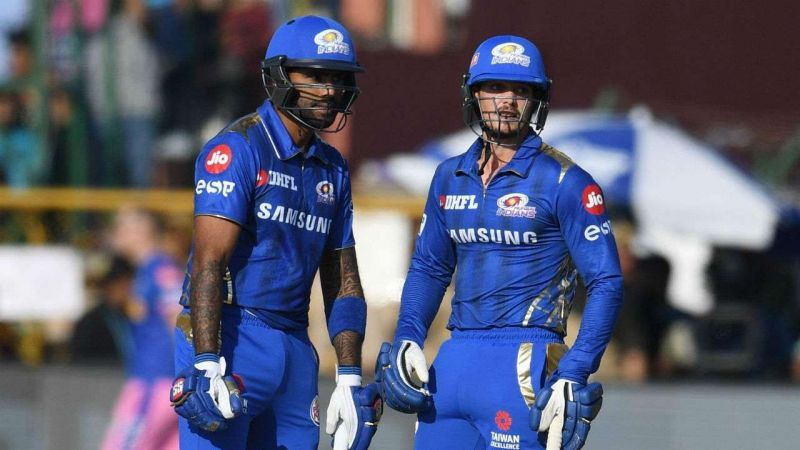 This is arguably the safest and the go to pair of openers for the Mumbai Indians