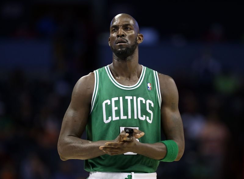 KG will be the 23rd Celtic to have his number up in the rafters.