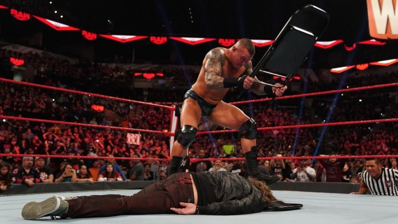 Randy Orton attacking Edge
