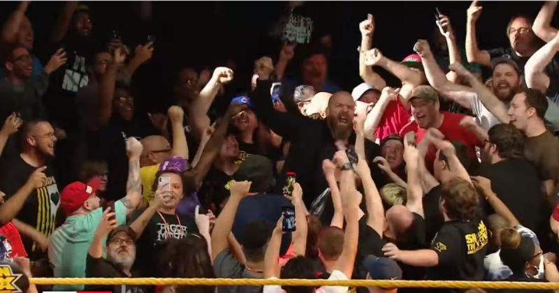 Triple H with the Full Sail fans.