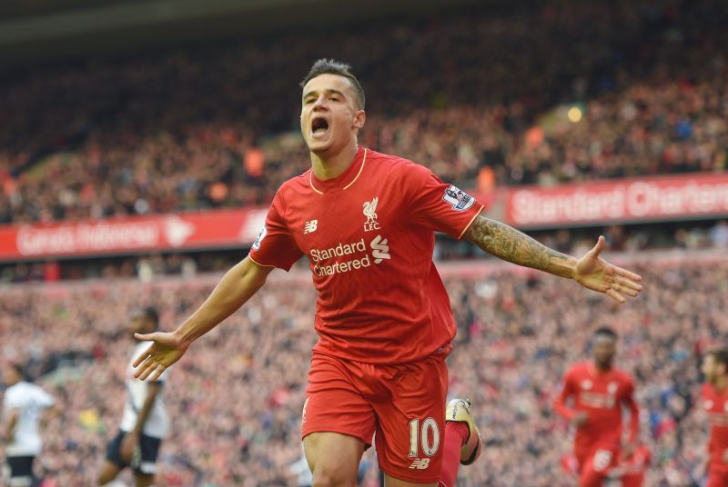Philippe Coutinho during his time at Anfield