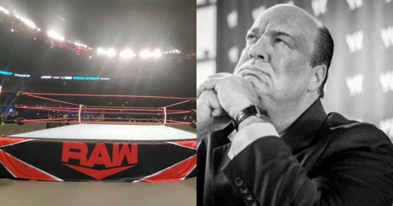 R AW ring/ Paul Heyman.