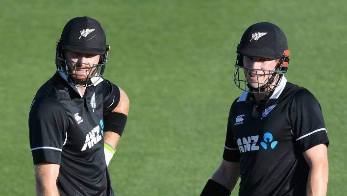 Martin Guptill and Henry Nicholls laid a solid foundation for the other batsmen to build on.
