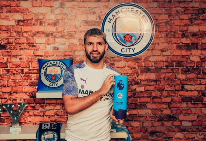 Aguero win his first Player of the month award this season