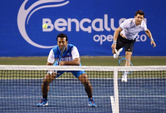 Paes and Ebden in action