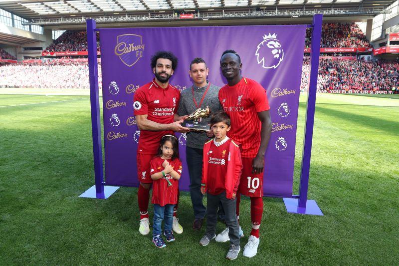 Mo Salah, Sadio Mane and Pierre-Emerick Aubameyang were awarded the Premier League Golden Boot last season