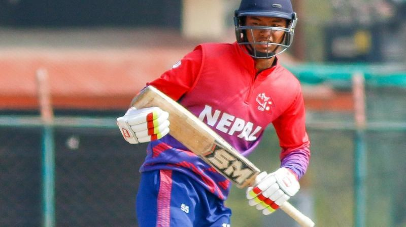 Kushal Malla became the youngest batsman to score an international fifty in the game against the USA