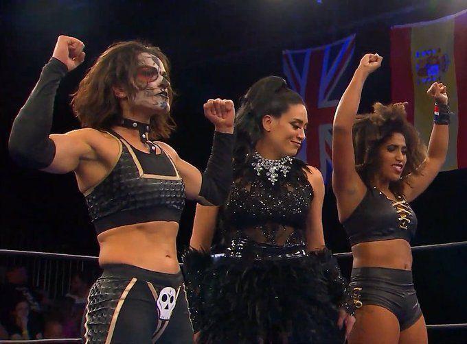Melina (Center) (Photo credit: NWA Powerrr/Melina Twitter account)