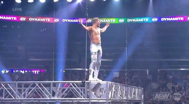 Cody jumped off a Steel Cage at the end of the episode!