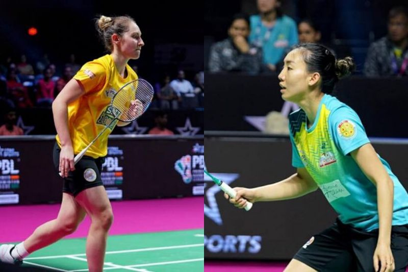Kirsty Gilmour of Chennai Superstarz (left) and Michelle Li of North Eastern Warriors (Right) (Image Credits - PBL)